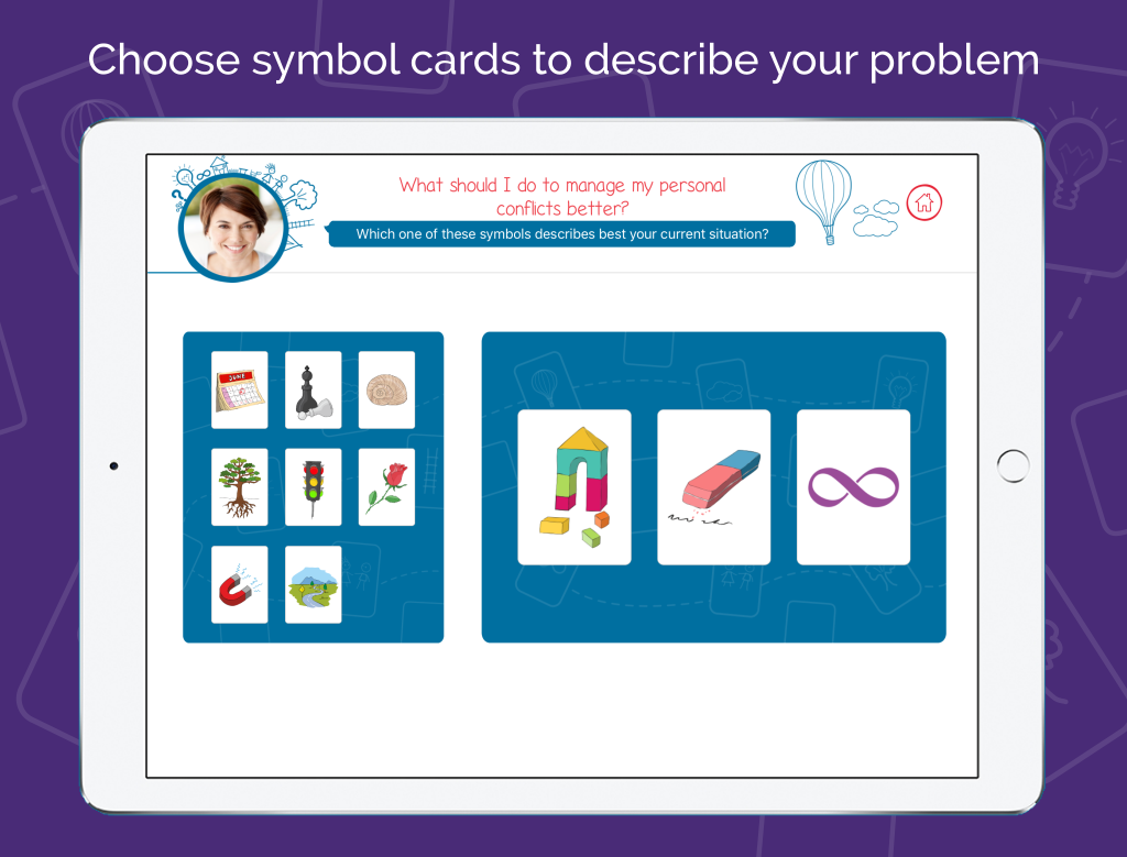 Life Coach App - Symblify - Choose Symbol Cards
