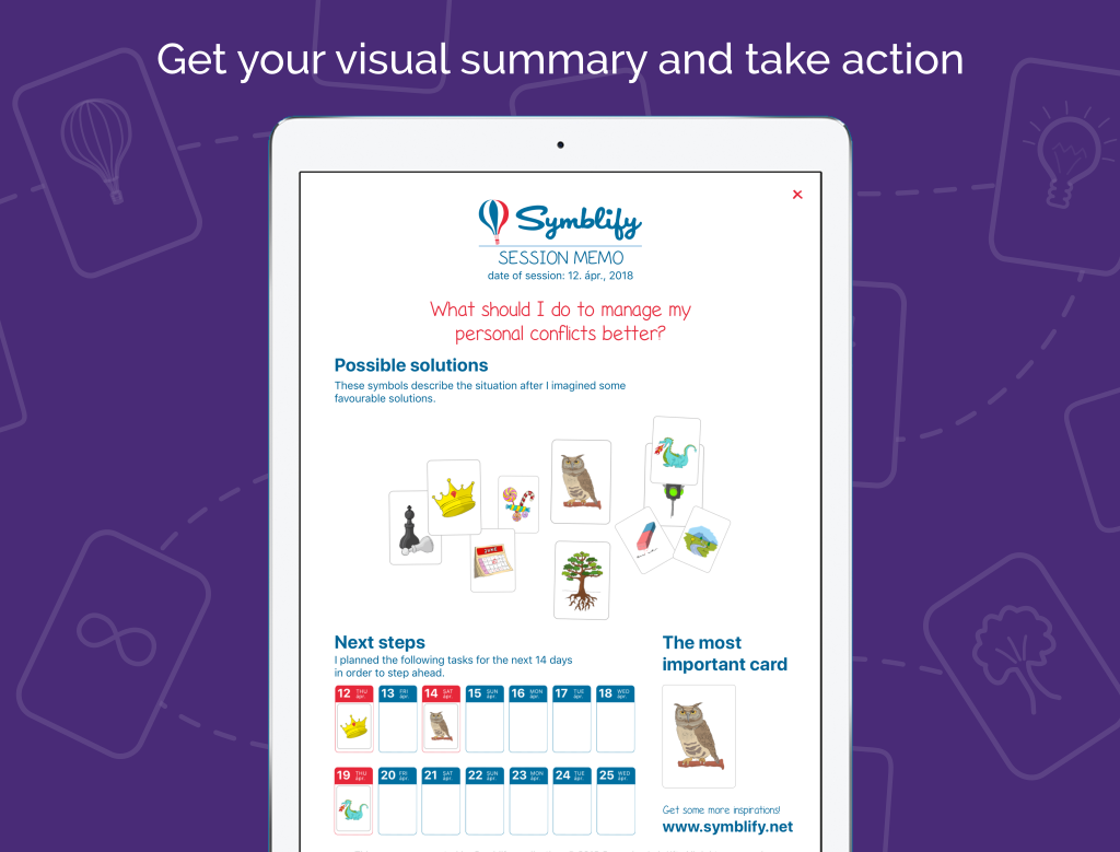 Life Coach App - Symblify - Get Your Visual Summary And Take Action