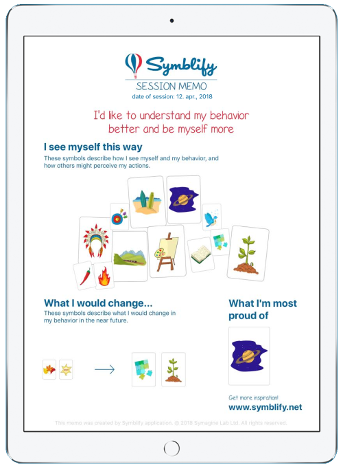 Symblify Session Memo iPad